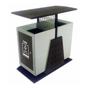 户外钢板分类垃圾桶系列(双桶和三桶类)
