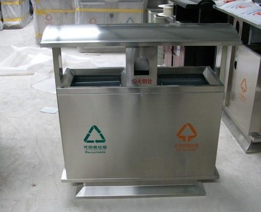 产品名称:不锈钢分类垃圾桶