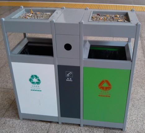 火车站分类垃圾桶 - 垃圾桶