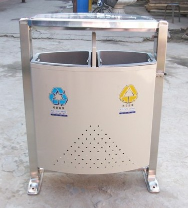 不锈钢分类垃圾桶图片