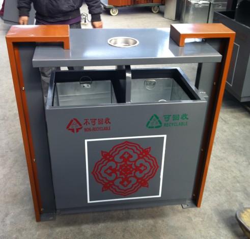 中国风分类垃圾箱 - 垃圾桶