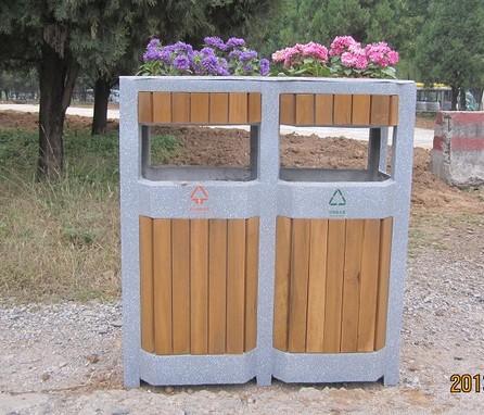 仿大理石分类垃圾桶